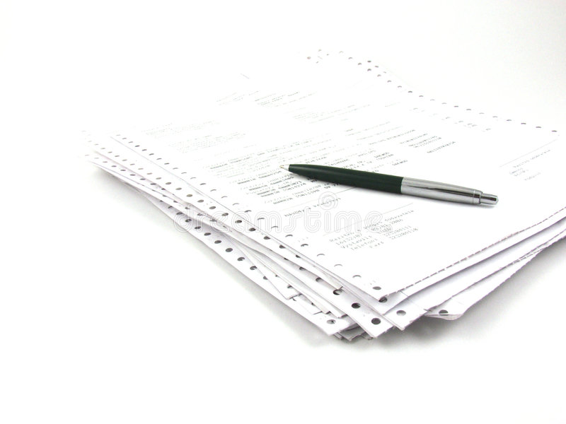 Pilha de papéis fotos de stock royalty free