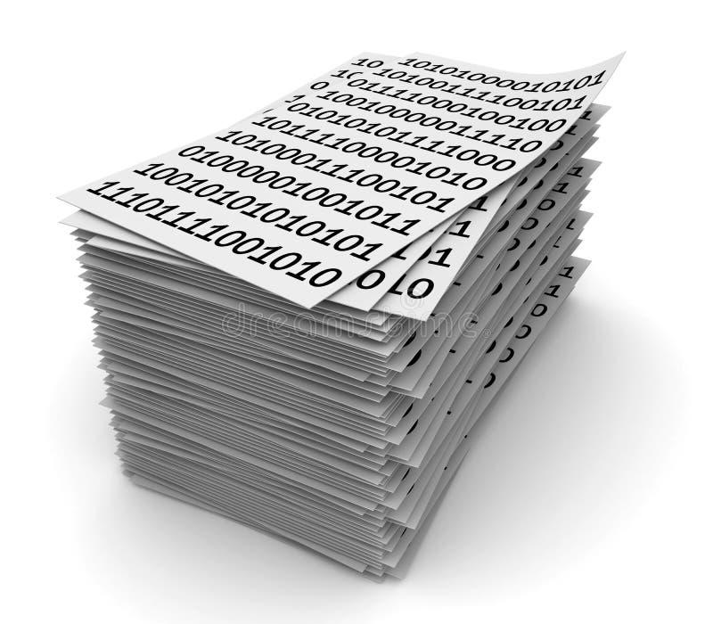 Pilha de papéis ilustração do vetor