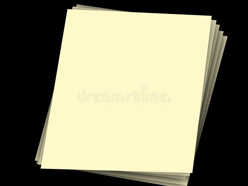Download Pilha de papéis no preto foto de stock. Imagem de páginas - 538328