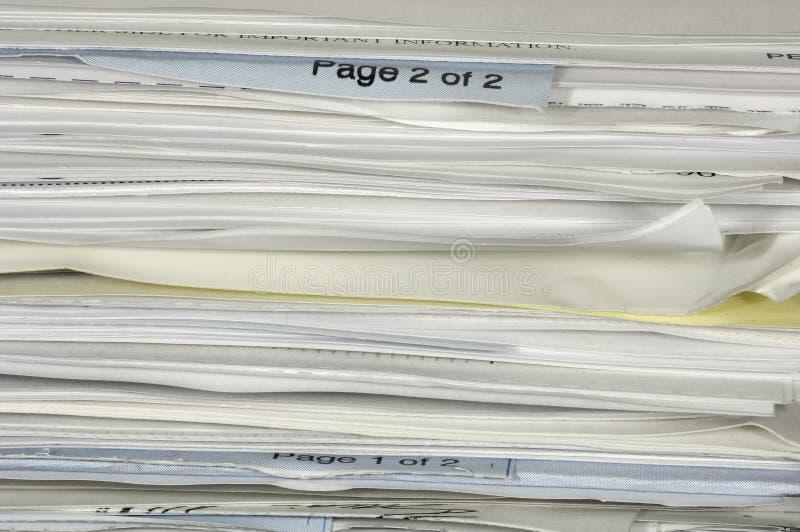 Pilha de papel imagens de stock royalty free