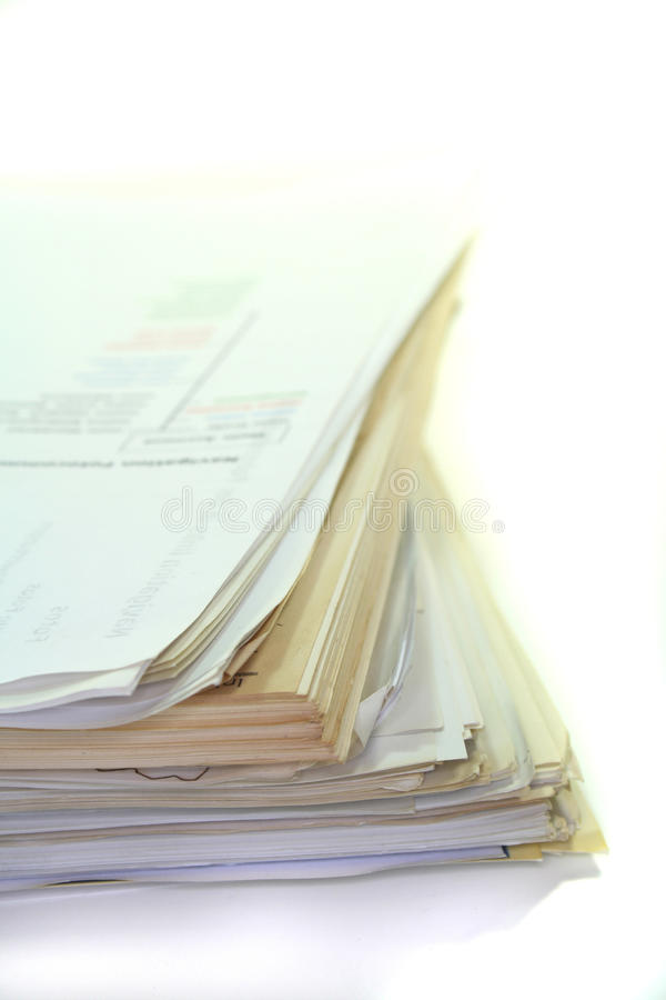 Pilha de papel fotografia de stock royalty free