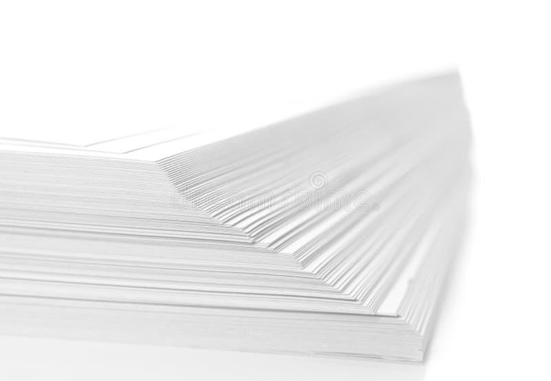 Pilha de papel imagem de stock