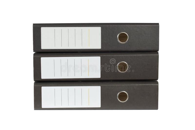 Pilha de pastas de anel imagem de stock