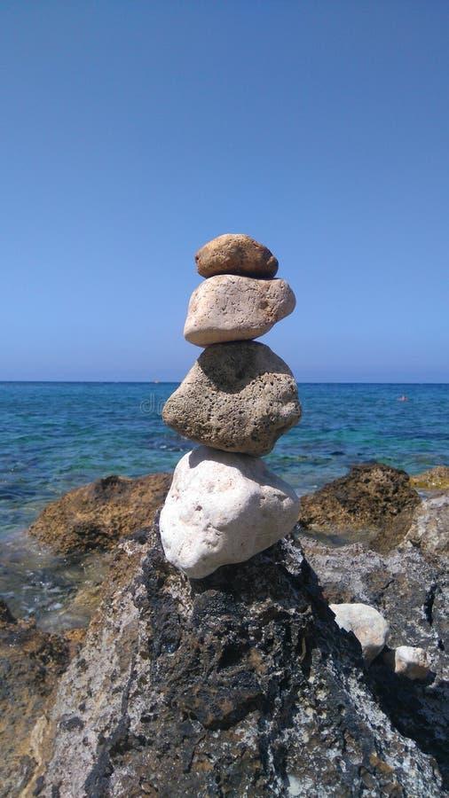 Pilha de pedra foto de stock royalty free