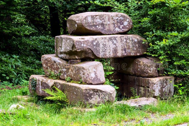 Pilha de pedra da Idade da Pedra fotografia de stock royalty free