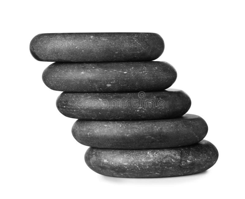 Pilha de pedras dos termas no branco imagem de stock royalty free