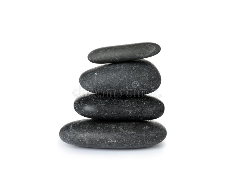 Pilha de pedras dos termas no branco imagens de stock royalty free