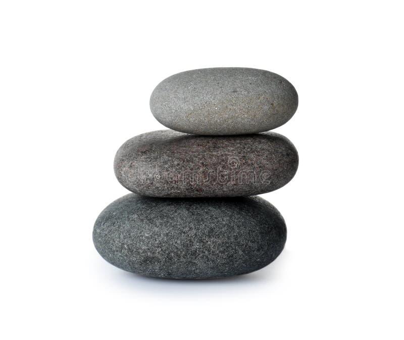 Pilha de pedras dos termas foto de stock
