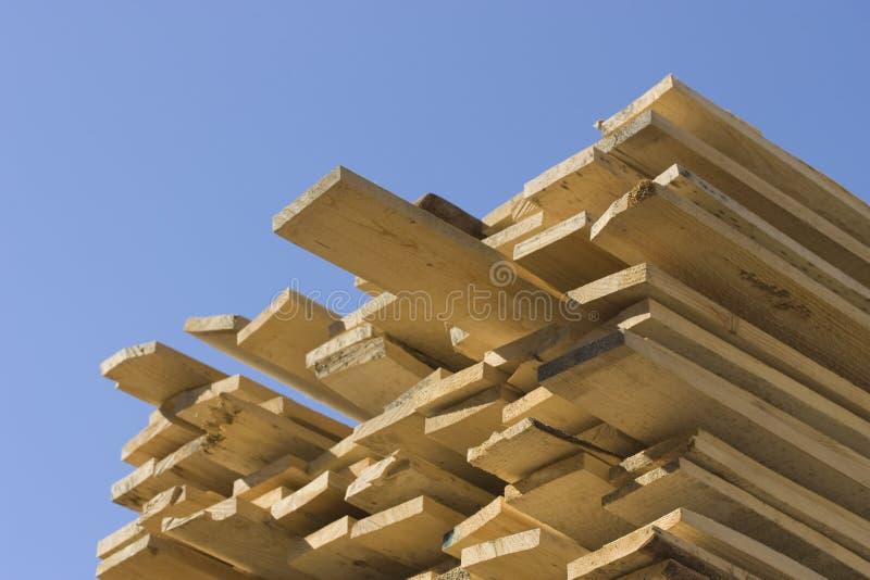 Pilha de placas de madeira. imagens de stock royalty free