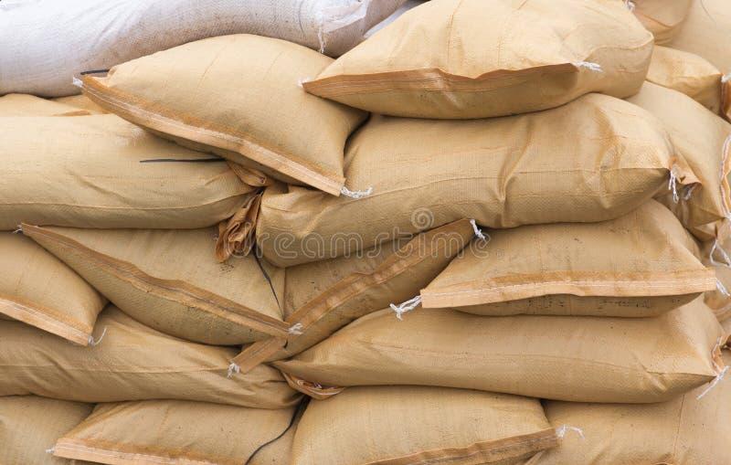 Pilha de sacos de areia fotografia de stock royalty free