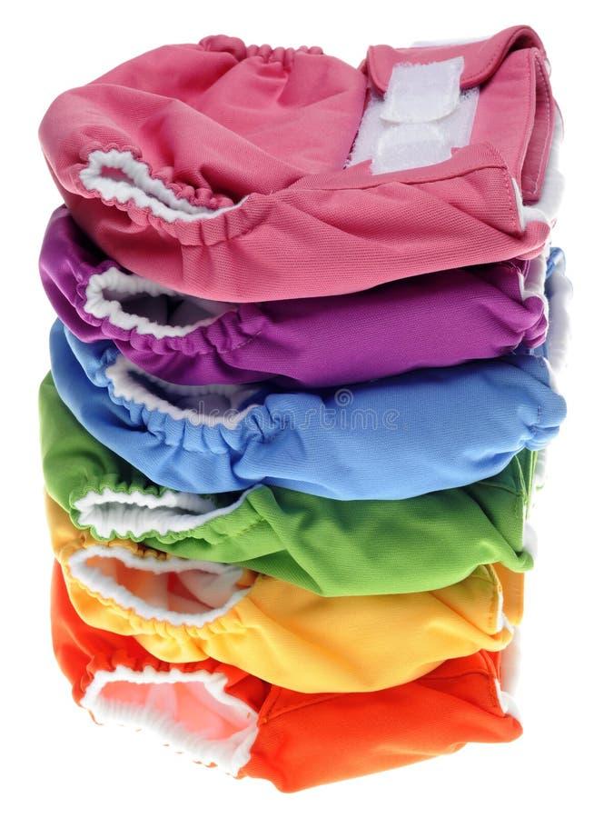 Pilha de tecidos amigáveis de pano de Eco fotografia de stock