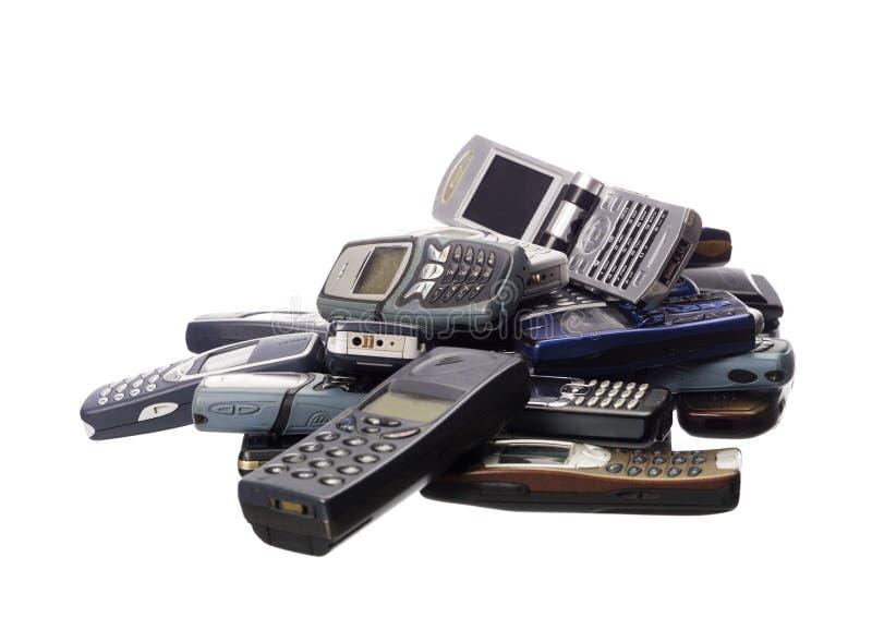 Pilha de telemóveis foto de stock royalty free
