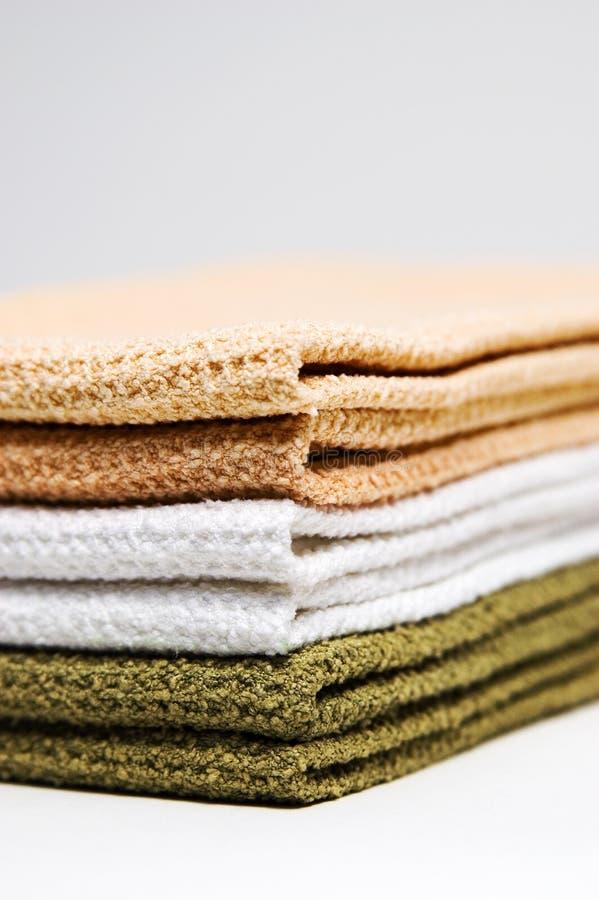Pilha de toalhas imagens de stock
