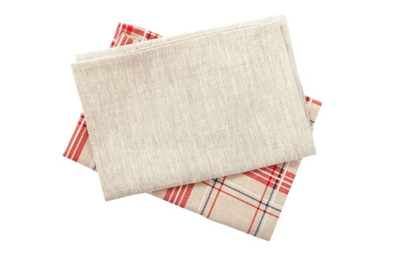Pilha de toalhas de prato coloridas imagens de stock royalty free
