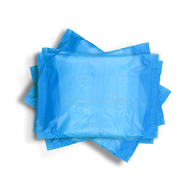 Pilha de toalhas sanitárias imagens de stock