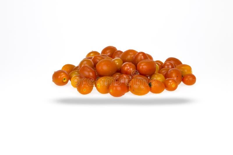 Pilha de tomates da uva vermelha imagem de stock royalty free