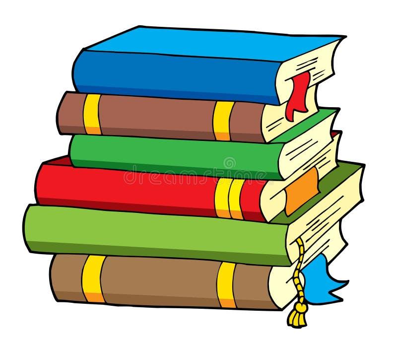Pilha de vários livros da cor ilustração stock