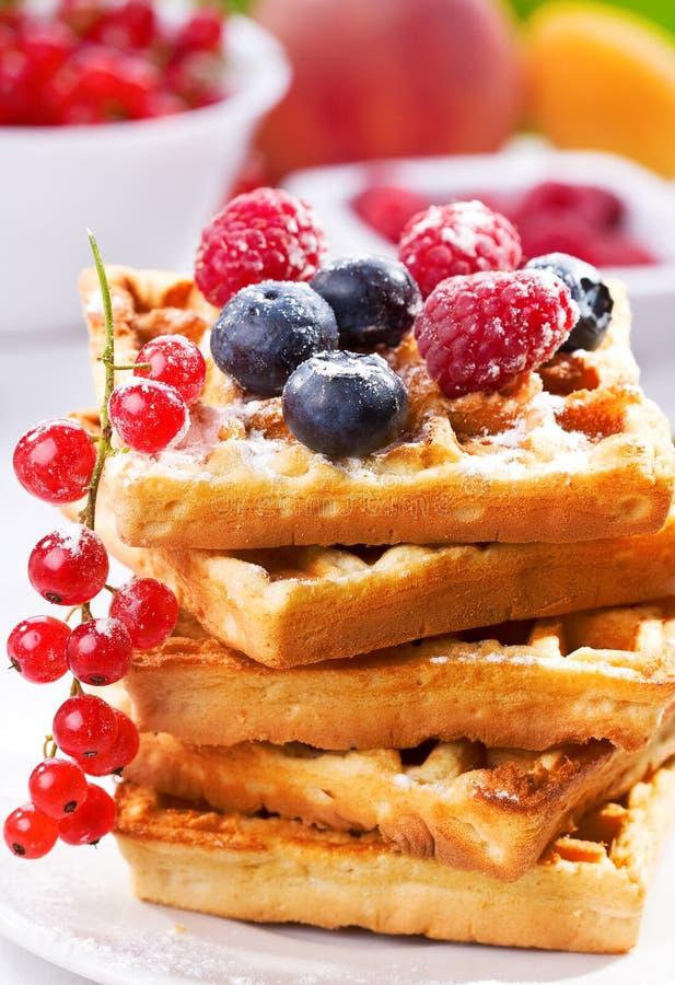 Pilha de waffles imagem de stock