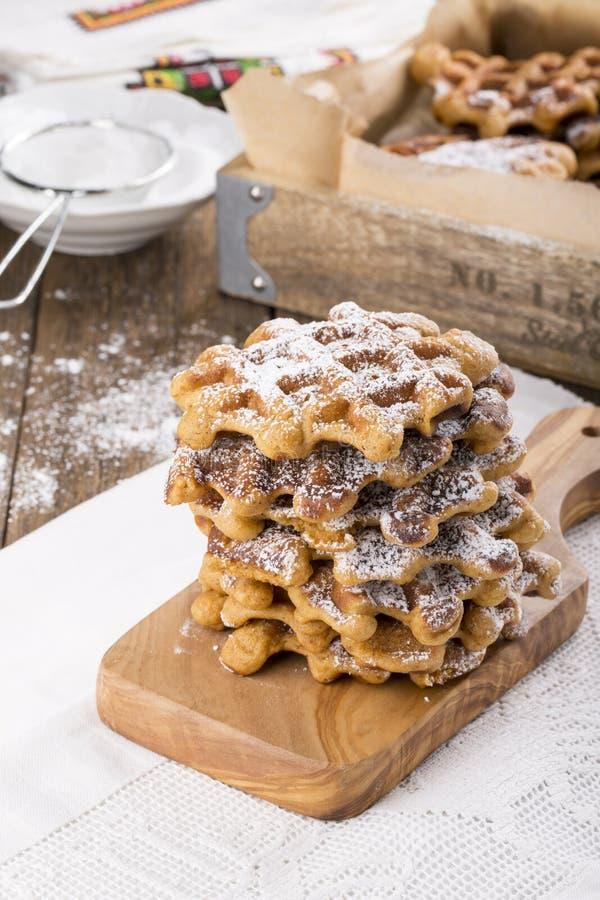Pilha de waffles da batata doce fotografia de stock royalty free