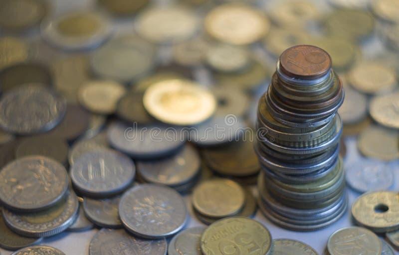 Pilha diferente das moedas imagem de stock royalty free