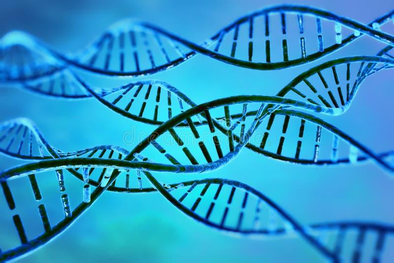 Pilha do ADN da ilustração de Digitas ilustração royalty free