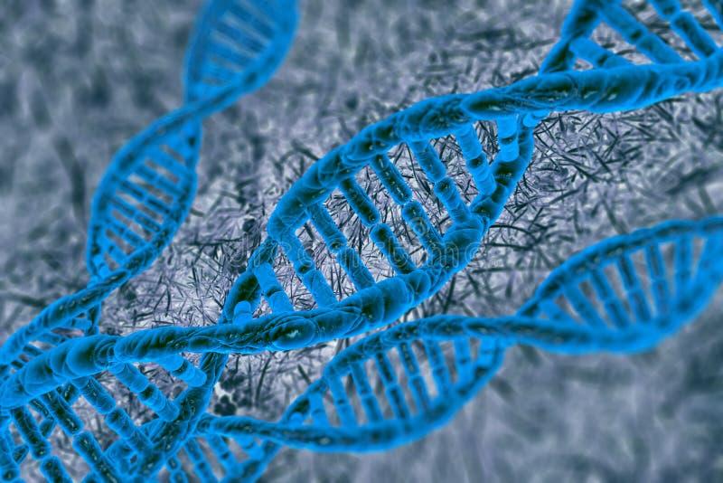 Pilha do ADN da ilustração de Digitas fotografia de stock