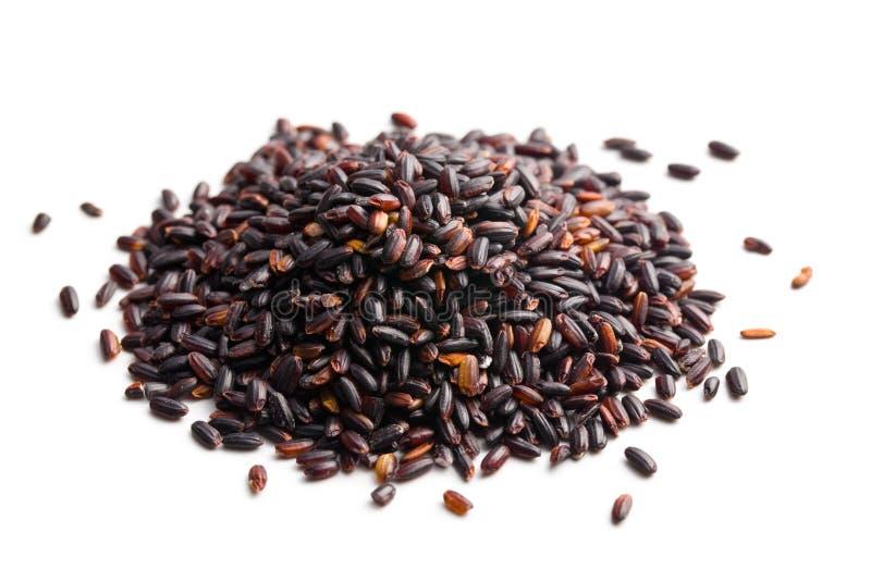 Pilha do arroz preto imagens de stock royalty free