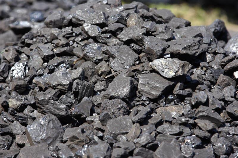 Pilha do carvão preto imagens de stock royalty free