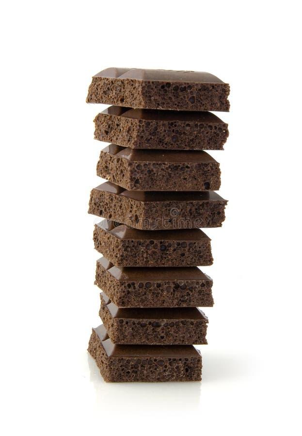 Pilha do chocolat fotos de stock royalty free