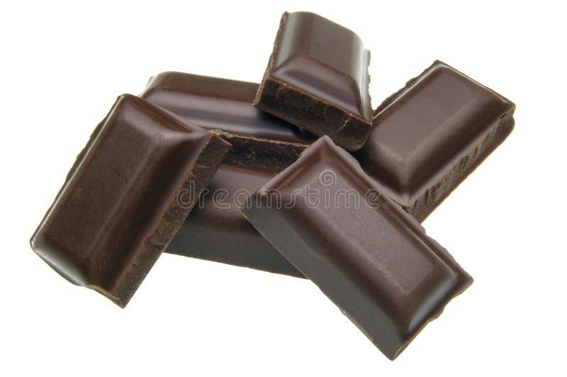 Pilha do chocolate fotografia de stock royalty free