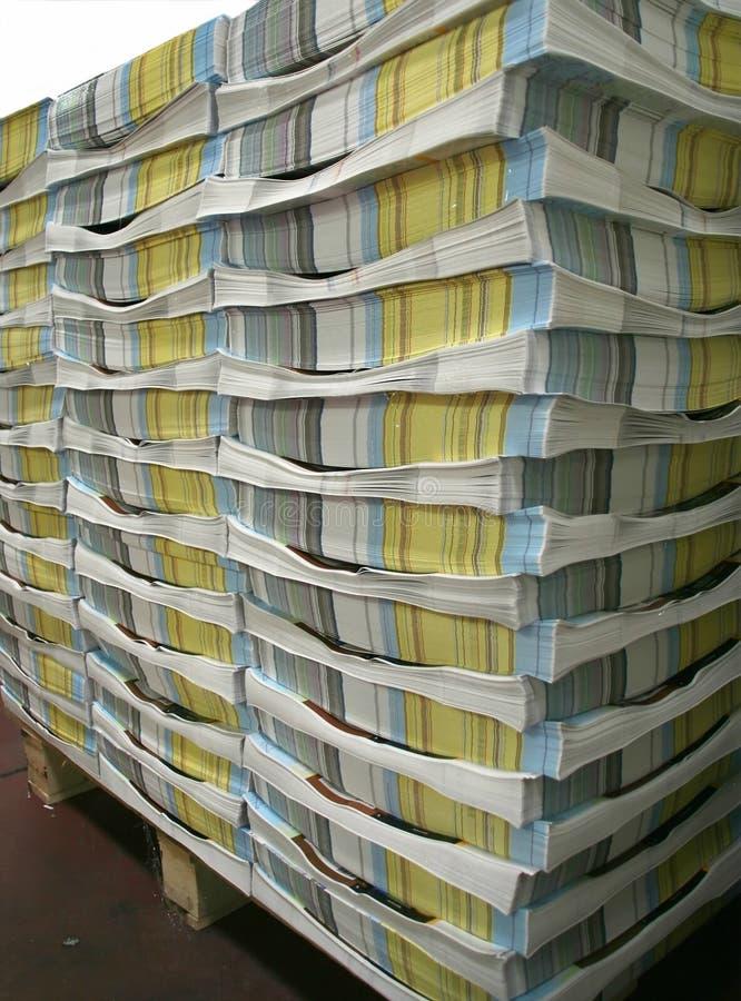 Pilha do compartimento ilustração stock