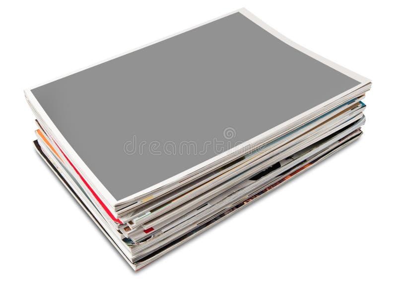 Pilha do compartimento da página de tampa em branco fotos de stock royalty free