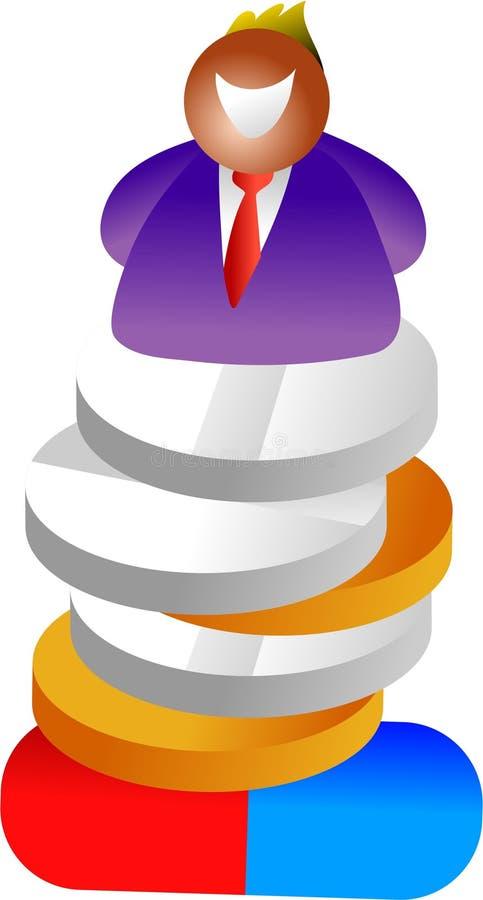 Pilha do comprimido ilustração royalty free