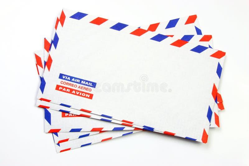Pilha do correio de ar imagens de stock royalty free
