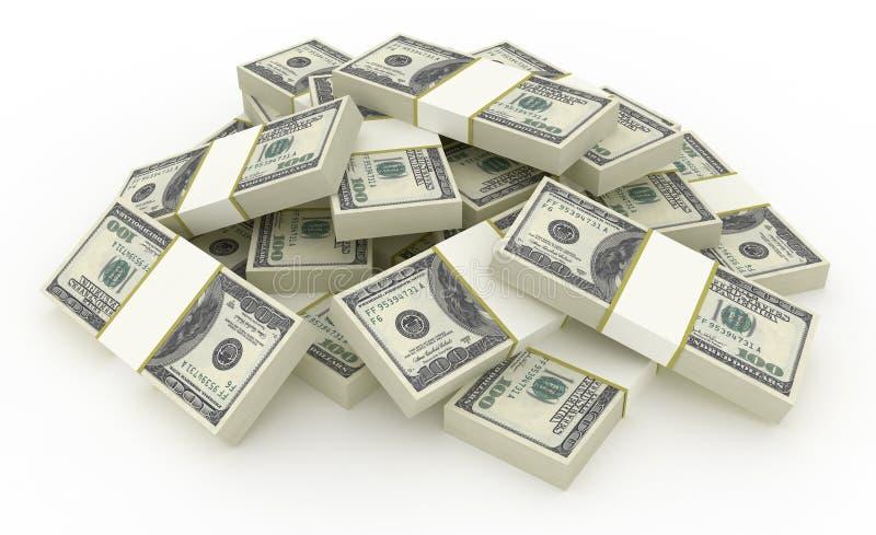 Pilha do dólar ilustração do vetor