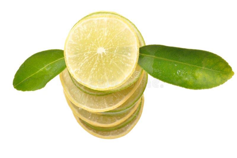 Pilha do limão fotografia de stock