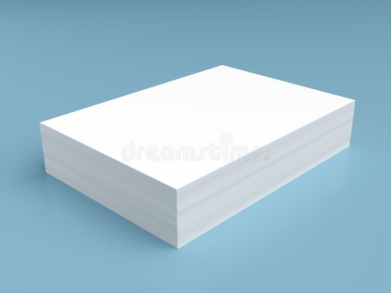 Pilha do Livro Branco ilustração do vetor
