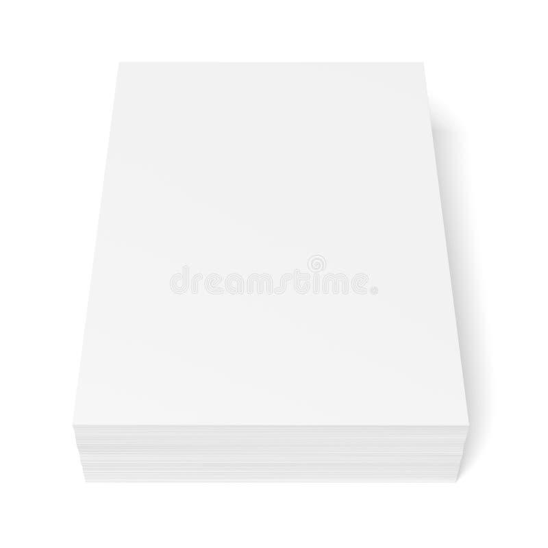 Pilha do Livro Branco ilustração royalty free