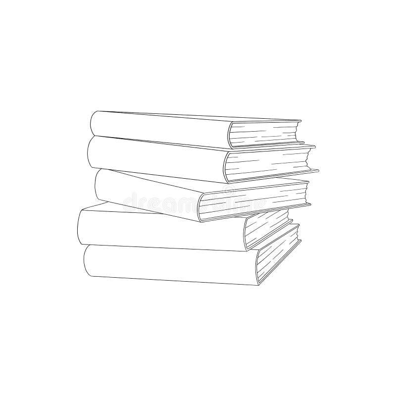 Pilha do livro do esboço do vetor, pilha ilustração do vetor