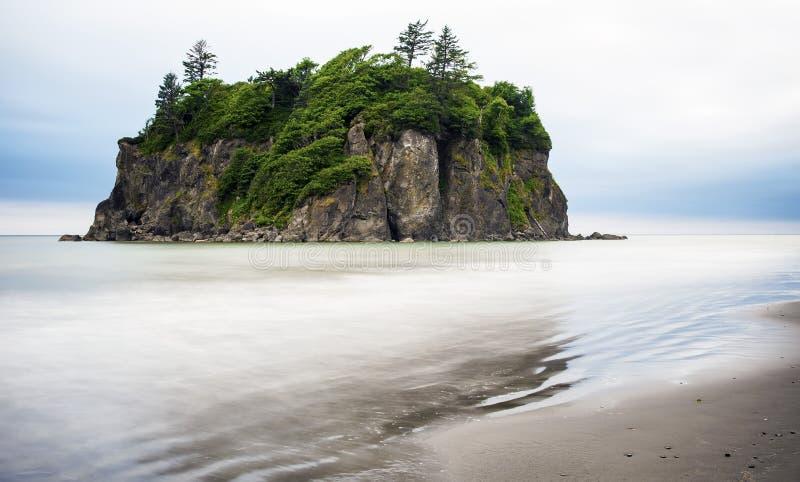 Pilha do mar de Ruby Beach imagens de stock