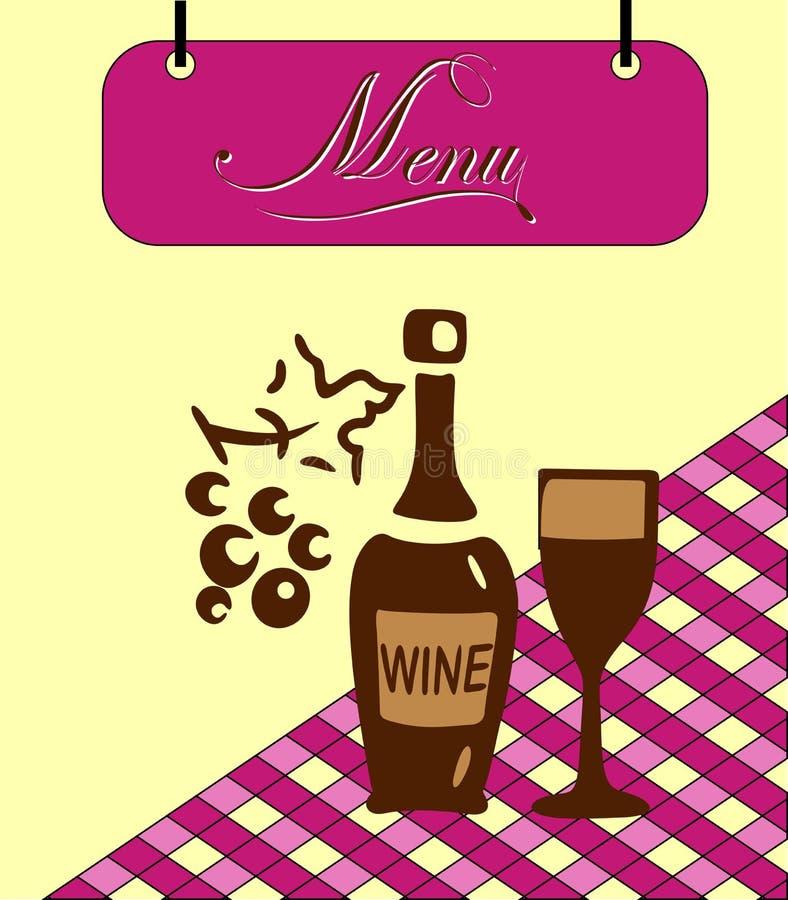 Download Pilha Do Menu De Borgonha Do Sinal. Vetor Ilustração Stock - Ilustração de receita, pano: 29842079