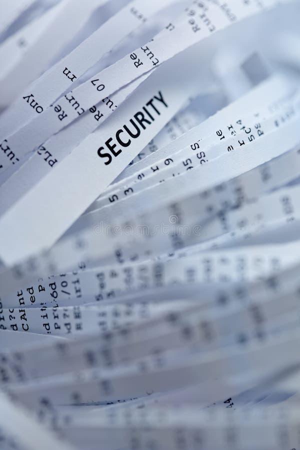Pilha do papel shredded - segurança imagens de stock