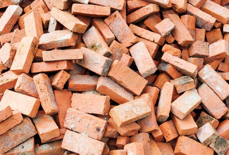 Pilha do tijolo fotografia de stock