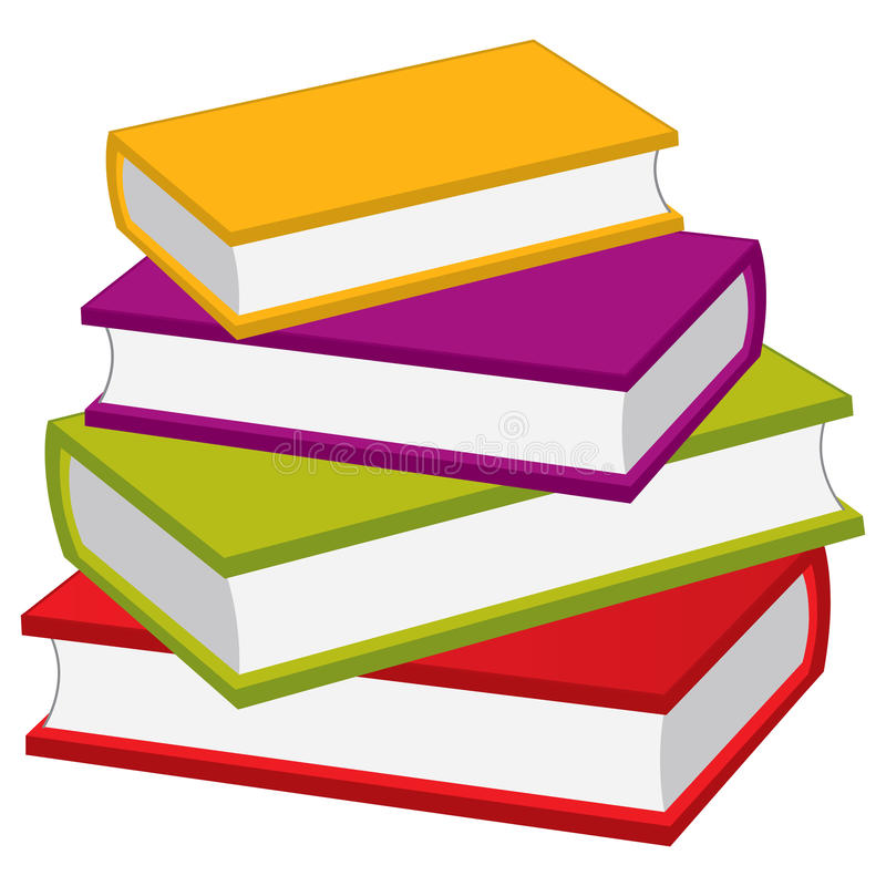 Pilha do vetor de livros Pilha do vetor dos livros ilustração do vetor