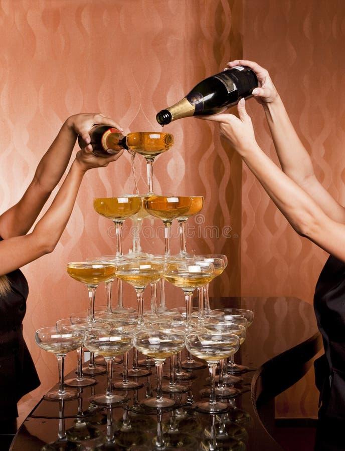 Pilha do vidro de vinho imagem de stock royalty free