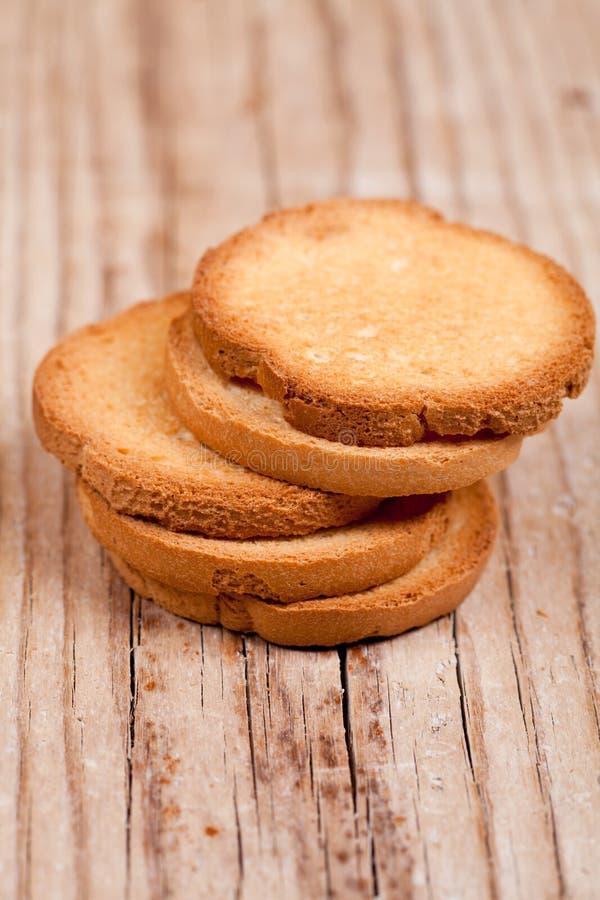 Pilha dos biscoitos do petisco fotografia de stock