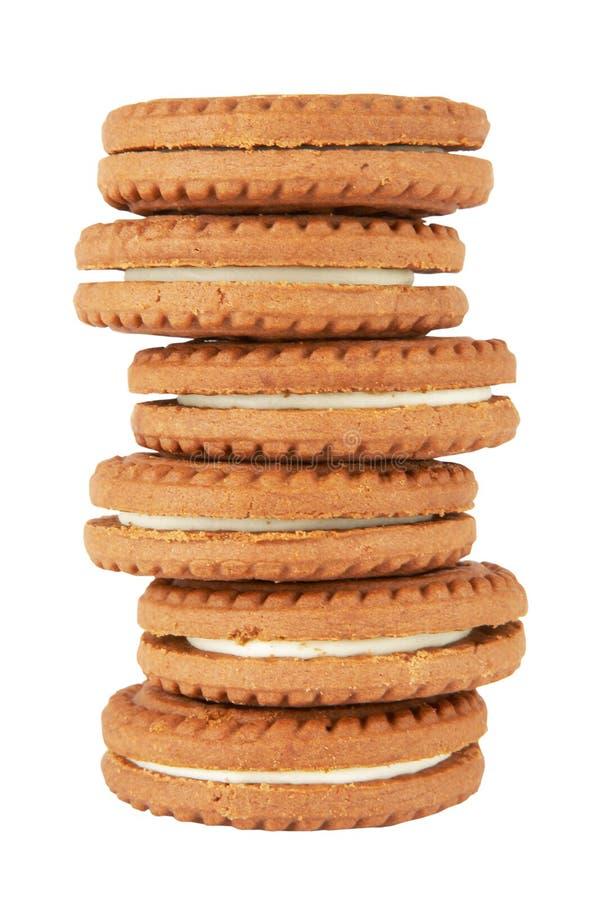 Pilha dos bolinhos do biscoito foto de stock
