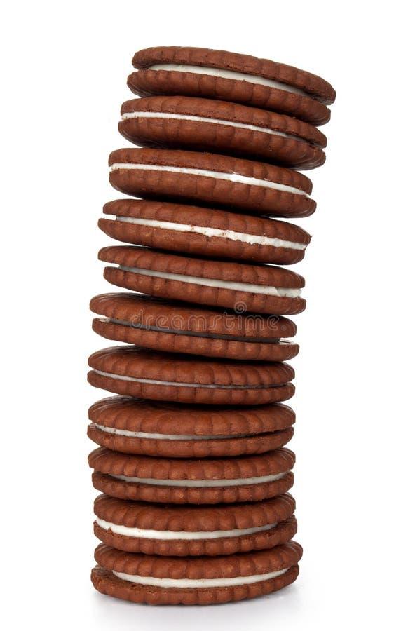 Pilha dos bolinhos do biscoito   fotografia de stock royalty free