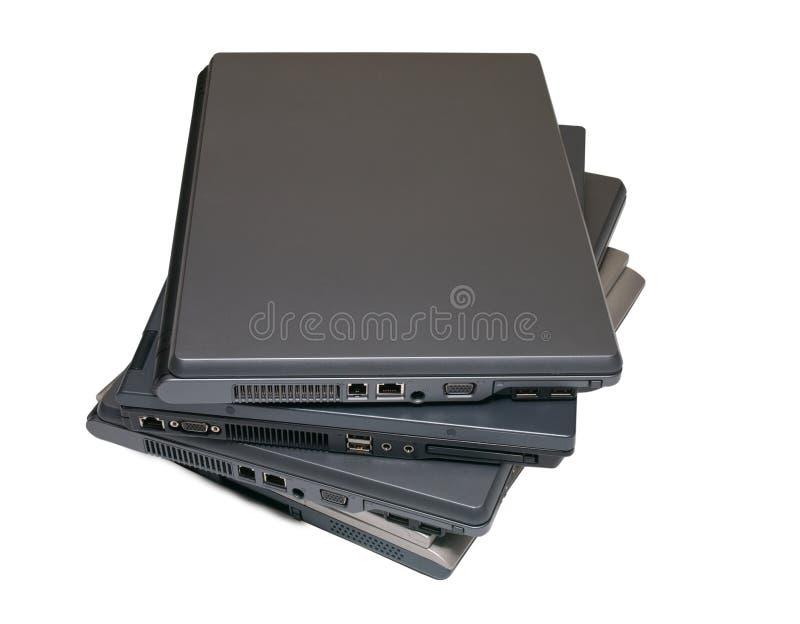 Pilha dos cadernos imagem de stock