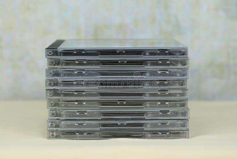 Pilha dos CD imagem de stock